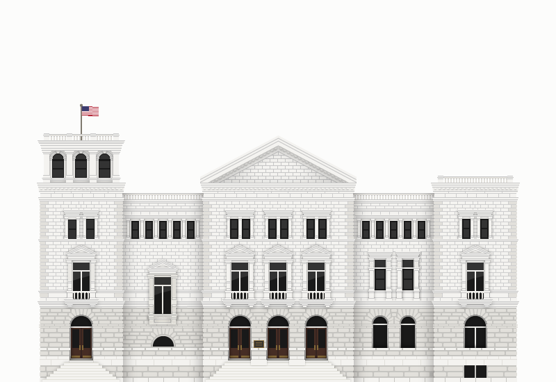 Digital art of the Charleston post office